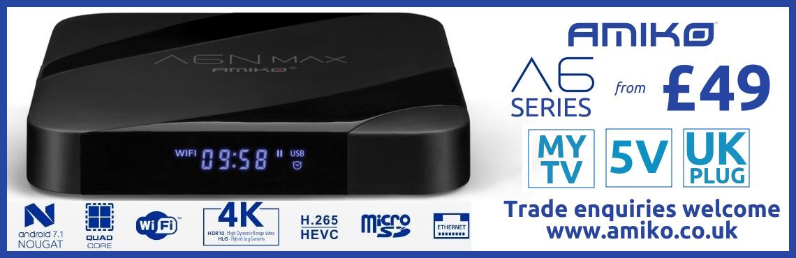 Amiko A6 Range 4K | H.265 | MYTV | Stalker | WiFi